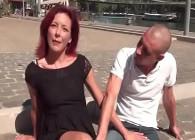 Milf francesa se anima a rodar porno junto a un chico joven